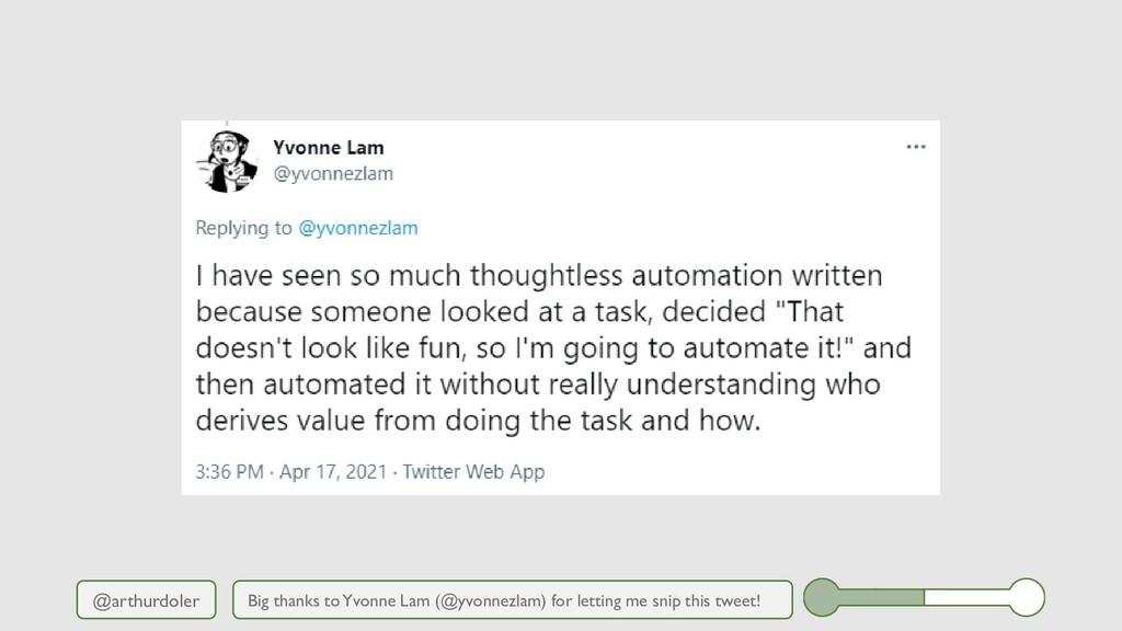 @arthurdoler Big thanks to Yvonne Lam (@yvonnez...
