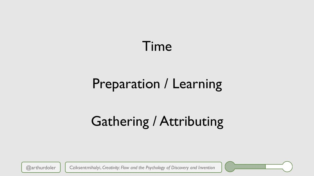 @arthurdoler Time Preparation / Learning Gather...