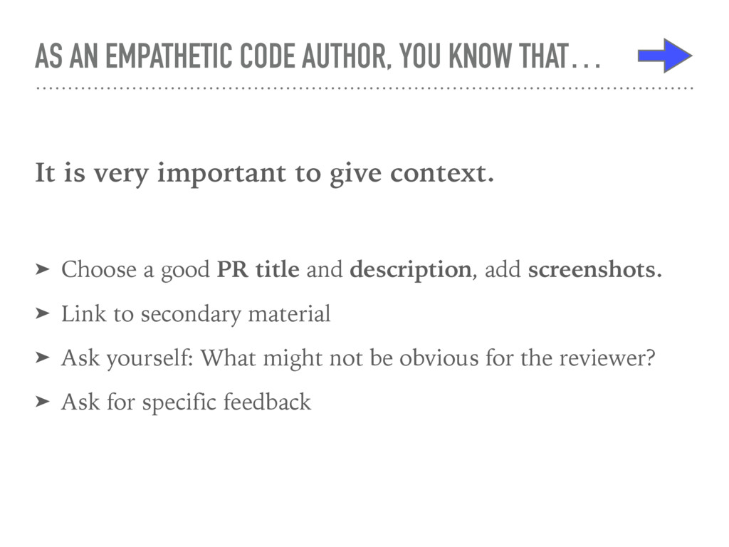 AS AN EMPATHETIC CODE AUTHOR, YOU KNOW THAT… It...