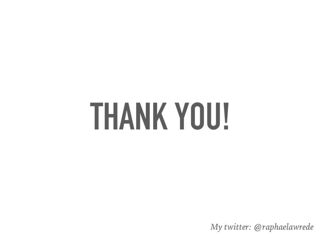 THANK YOU! My twitter: @raphaelawrede