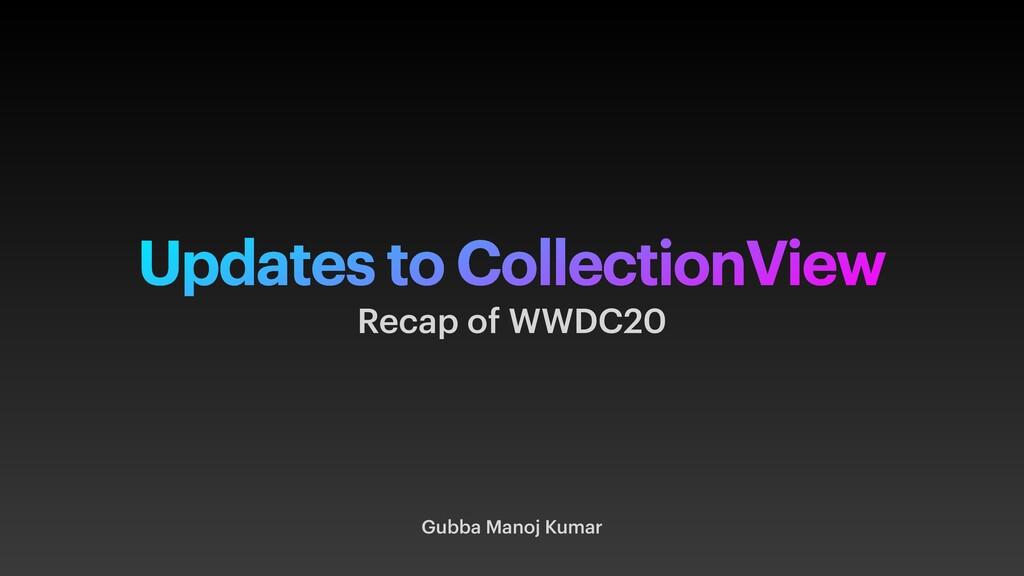 Updates to CollectionView Gubba Manoj Kumar Rec...