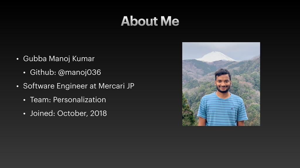 About Me • Gubba Manoj Kumar • Github: @manoj03...