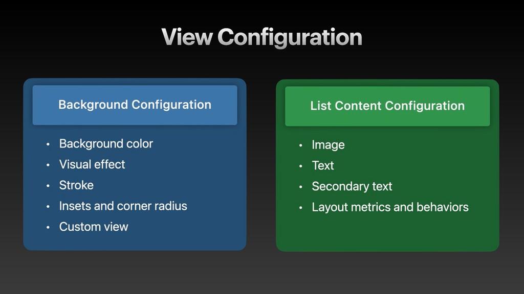 View Configuration