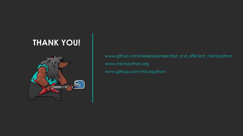THANK YOU! www.github.com/sleepypioneer/fast_an...