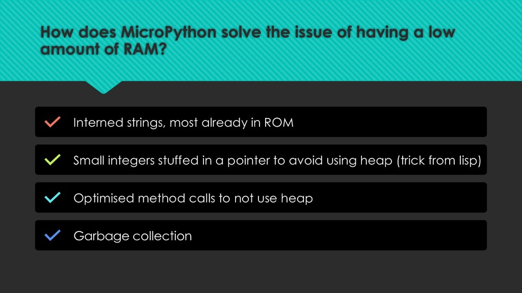 How does MicroPython solve the issue of having ...