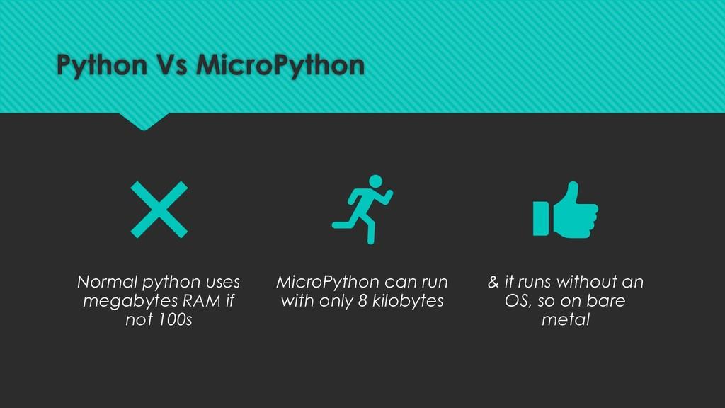 Normal python uses megabytes RAM if not 100s Mi...