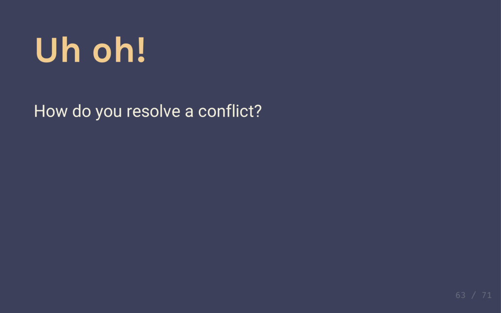 Make conflicts Push and sync one at a time. Wha...