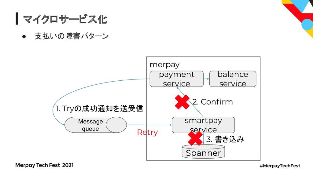 #MerpayTechFest マイクロサービス化 ● 支払いの障害パターン merpay S...