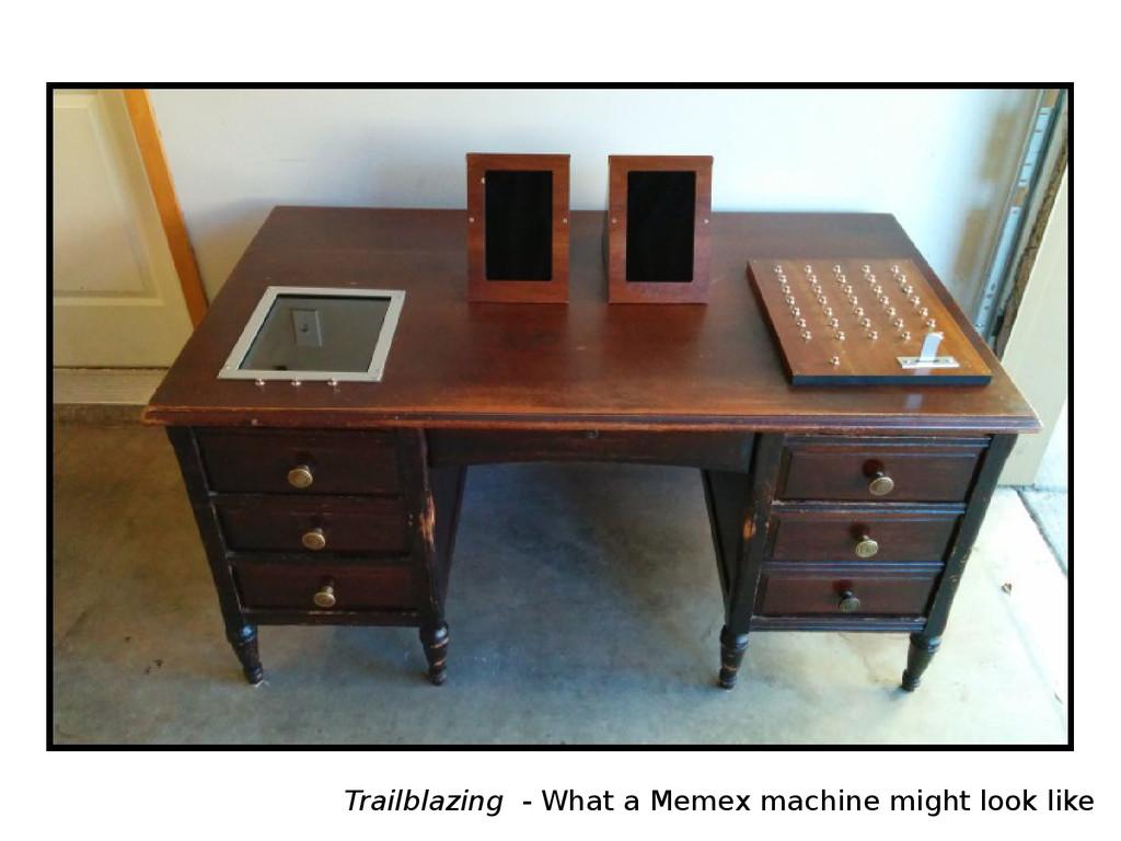 Trailblazing - What a Memex machine might look ...