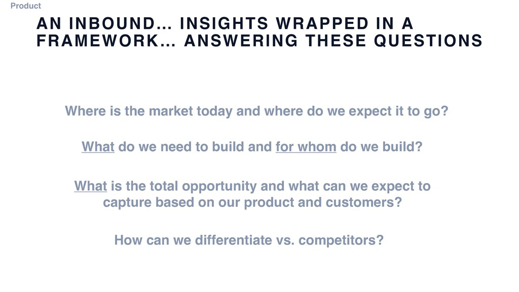AN INBOUND… INSIGHTS WRAPPED IN A FRAMEWORK… AN...