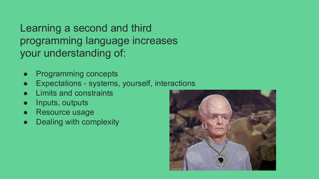 Learning a second and third programming languag...
