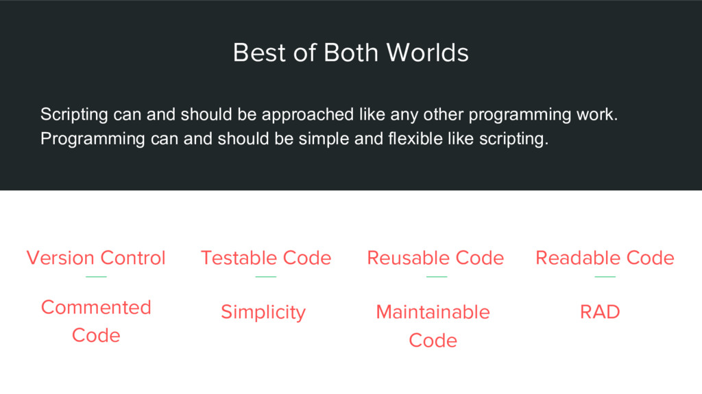 Best of Both Worlds Version Control Scripting c...
