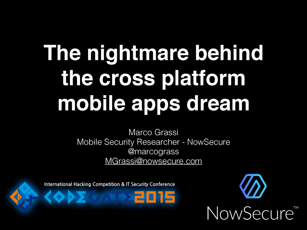 The nightmare behind the cross platform mobile ...