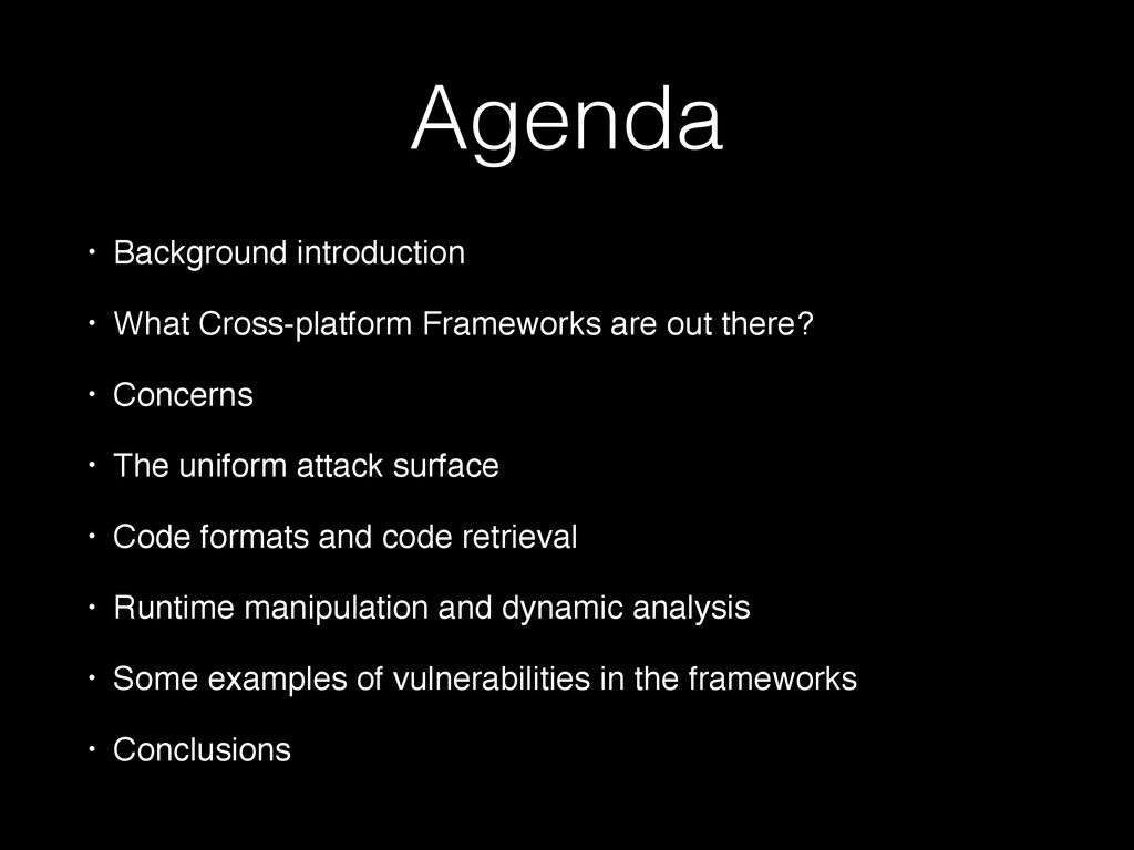 Agenda • Background introduction • What Cross-p...