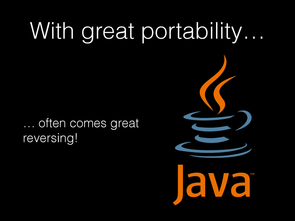 With great portability… … often comes great rev...