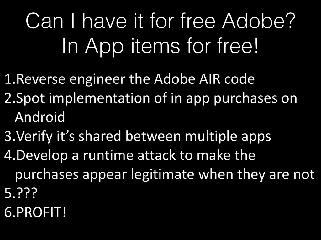 Can I have it for free Adobe? In App items for ...