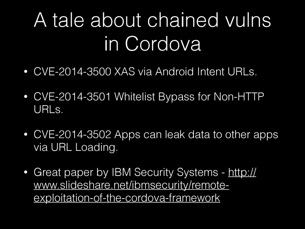 A tale about chained vulns in Cordova • CVE-201...