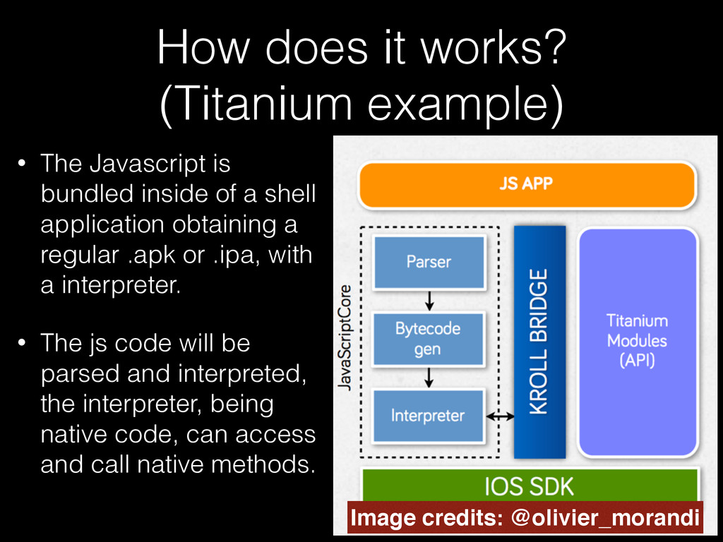 How does it works? (Titanium example) • The Jav...