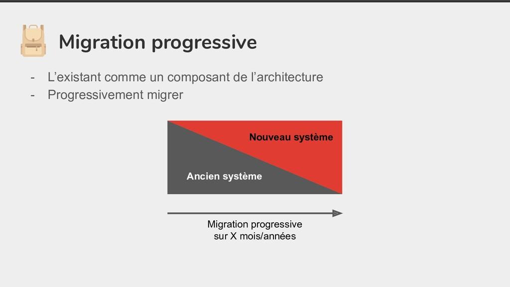 Migration progressive - L'existant comme un com...