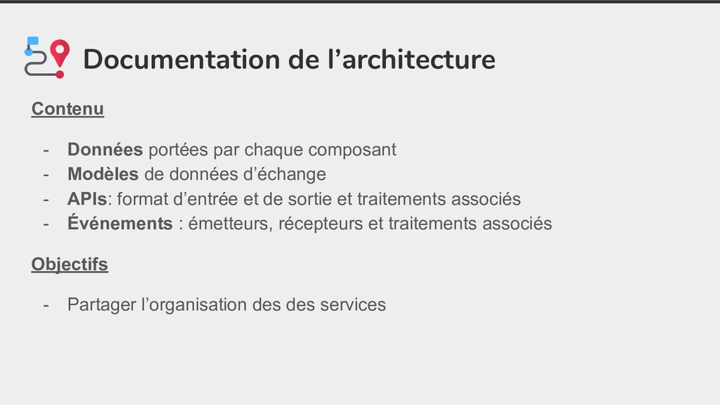 Documentation de l'architecture Contenu - Donné...