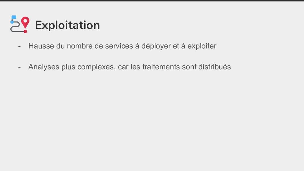 Exploitation - Hausse du nombre de services à d...