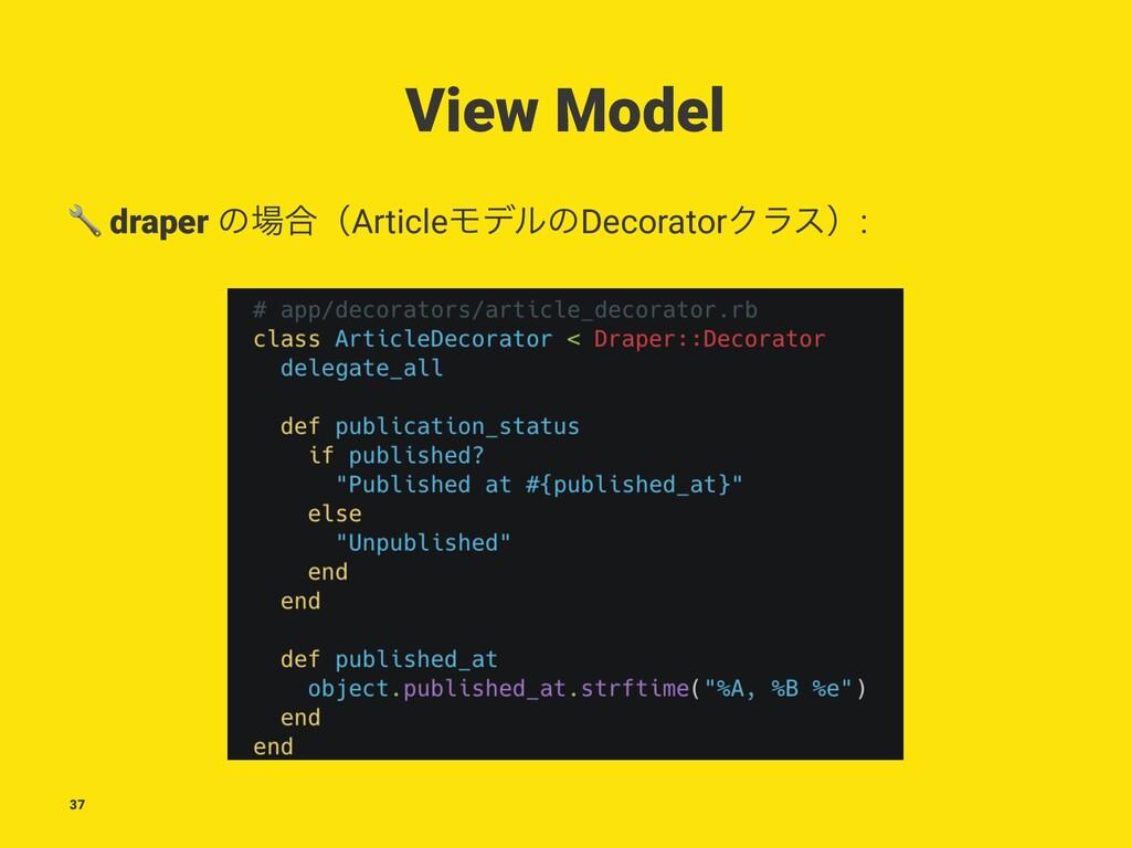 View Model ! draper ͷ߹ʢArticleϞσϧͷDecoratorΫϥε...