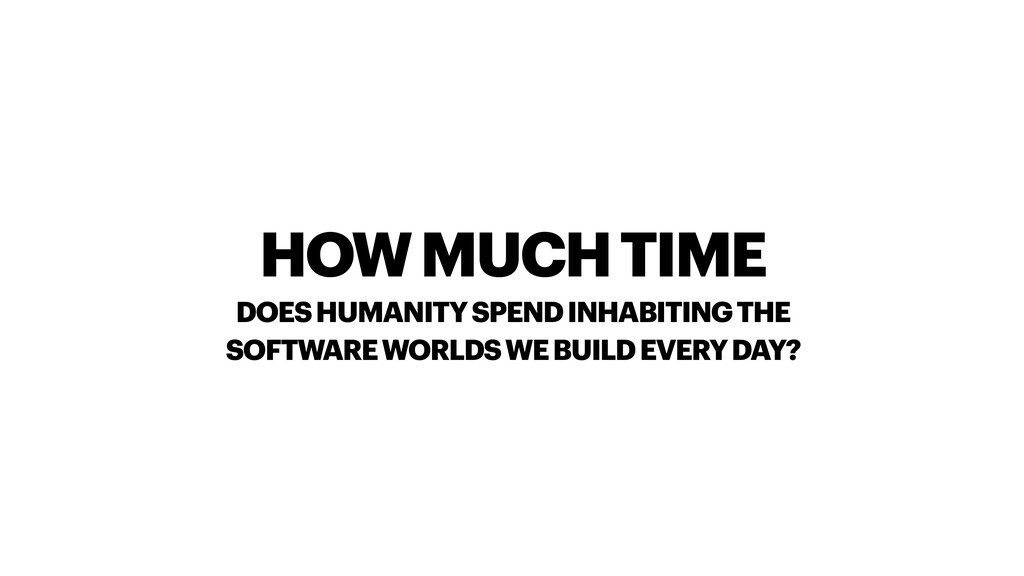 HOW MUCH TIME DOES HUMANITY SPEND INHABITING TH...