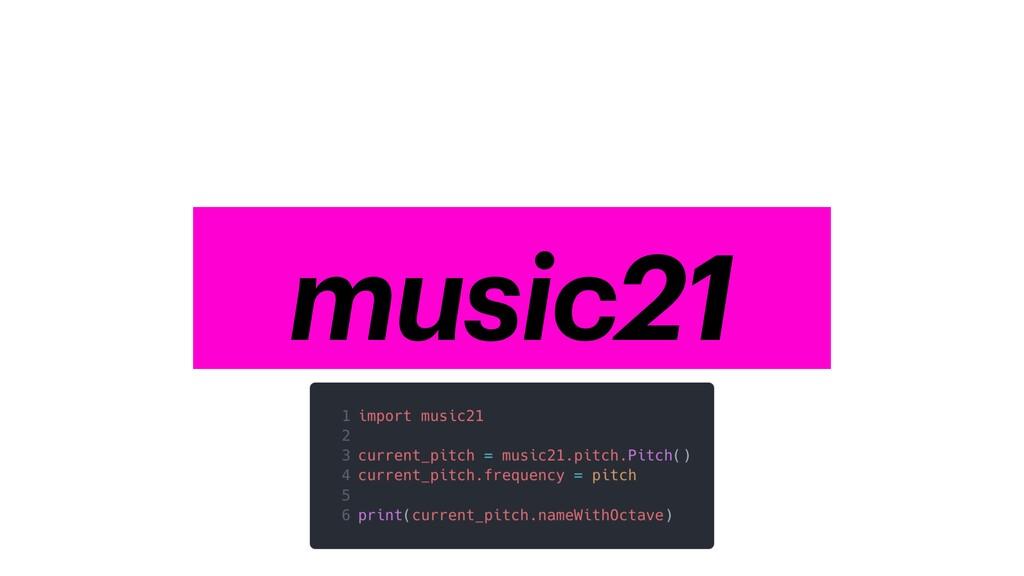 numpy music21