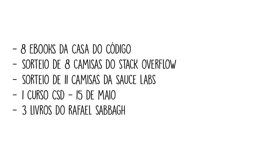 - 8 EBOOKS DA CASA DO CÓDIGO - sOrteiO de 8 cam...