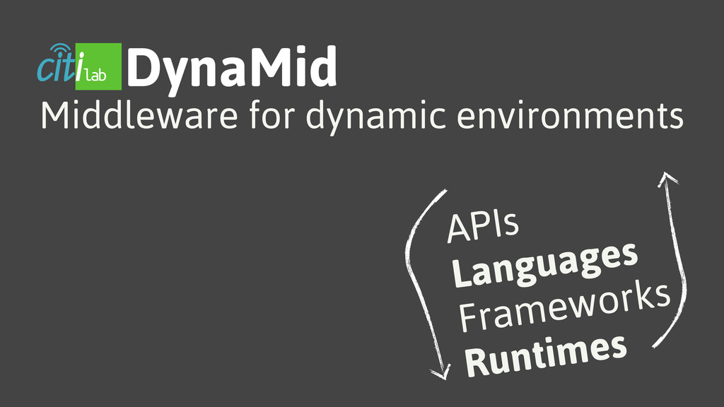 DynaMid Middleware for dynamic environments API...