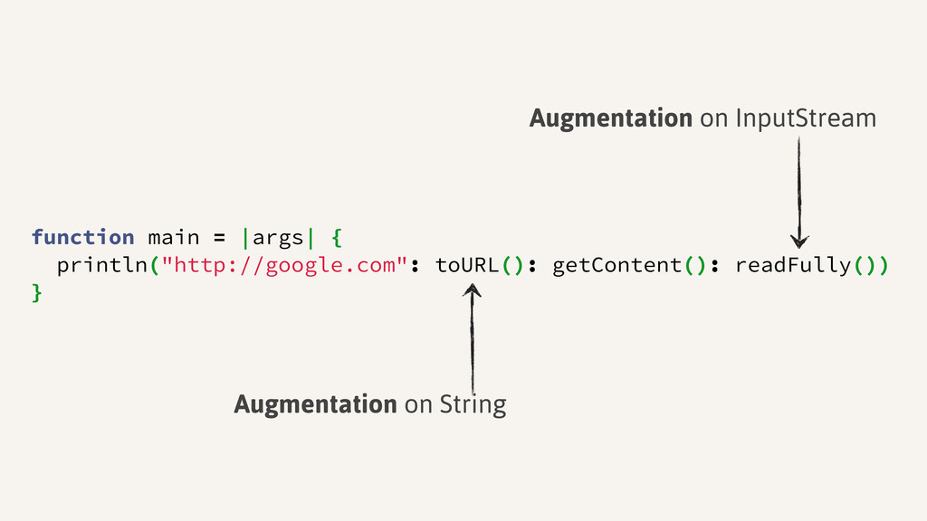 "function main = |args| { println(""http://google..."