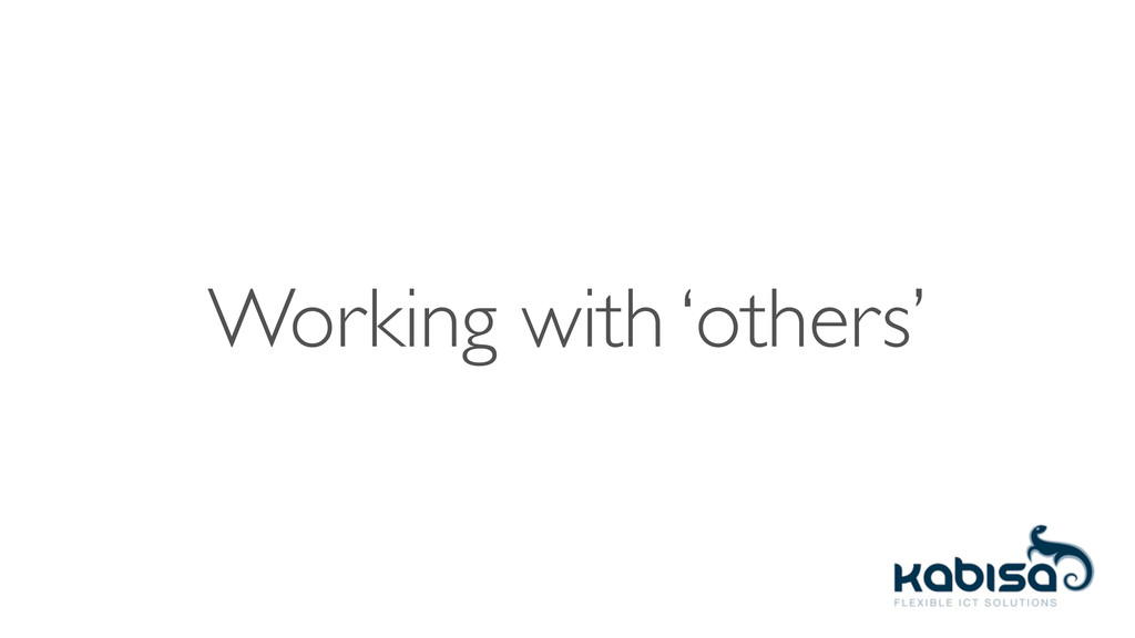 Working with 'others'