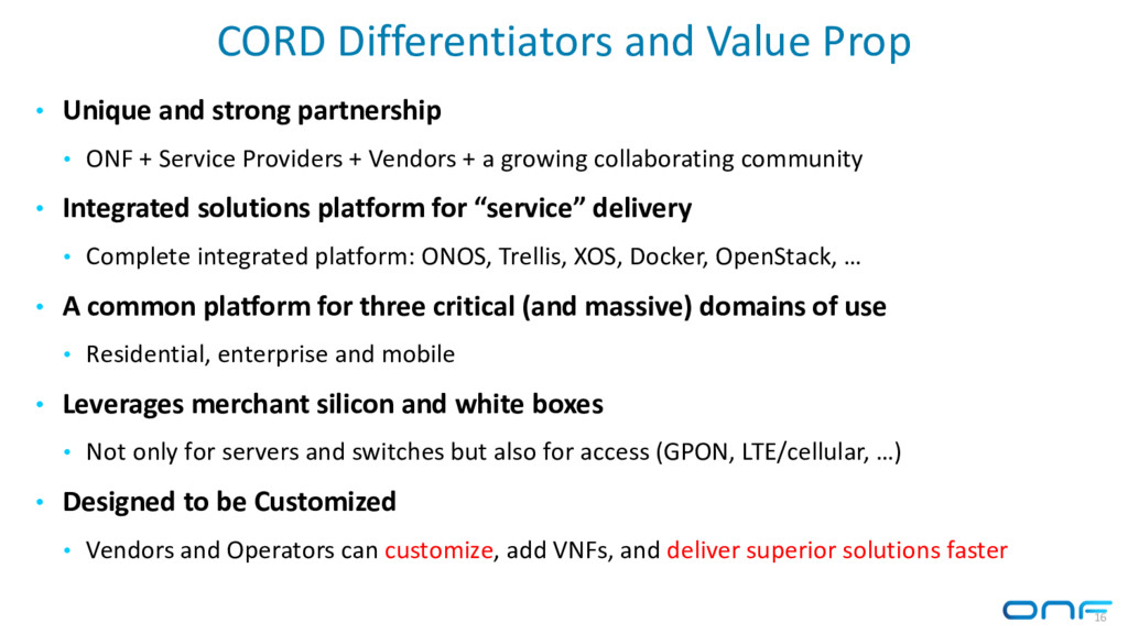 CORD Differentiators and Value Prop • Unique an...