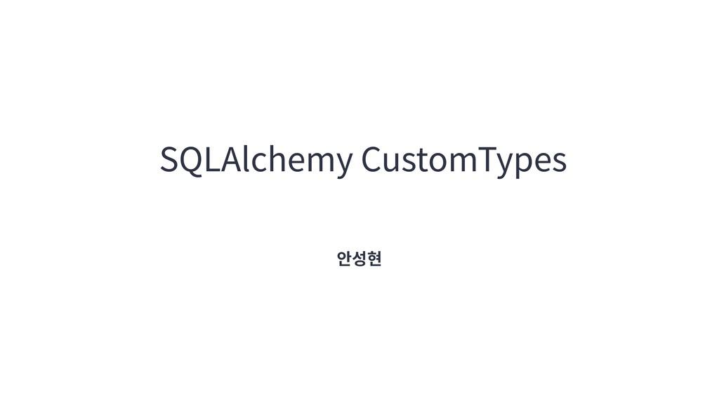 SQLAlchemy CustomTypes 안성현