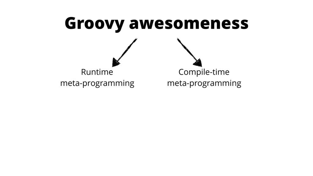Groovy awesomeness Runtime meta-programming Co...