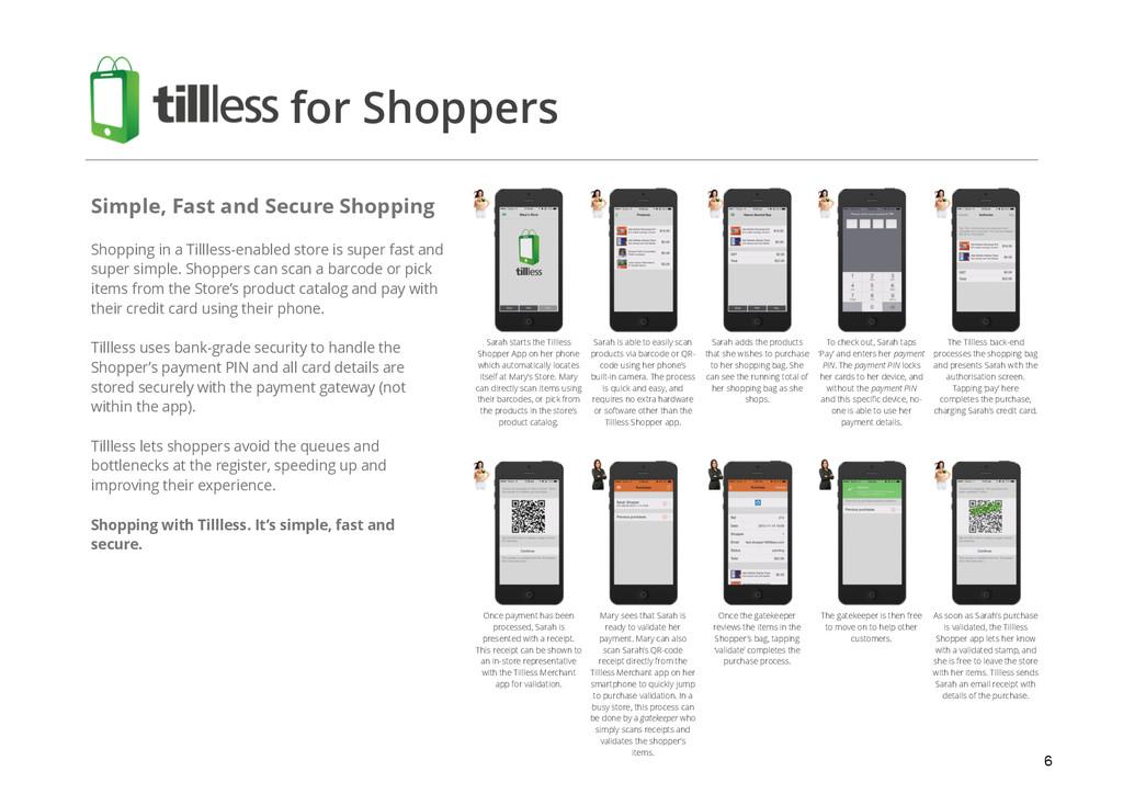 6 Sarah starts the Tillless Shopper App on her ...