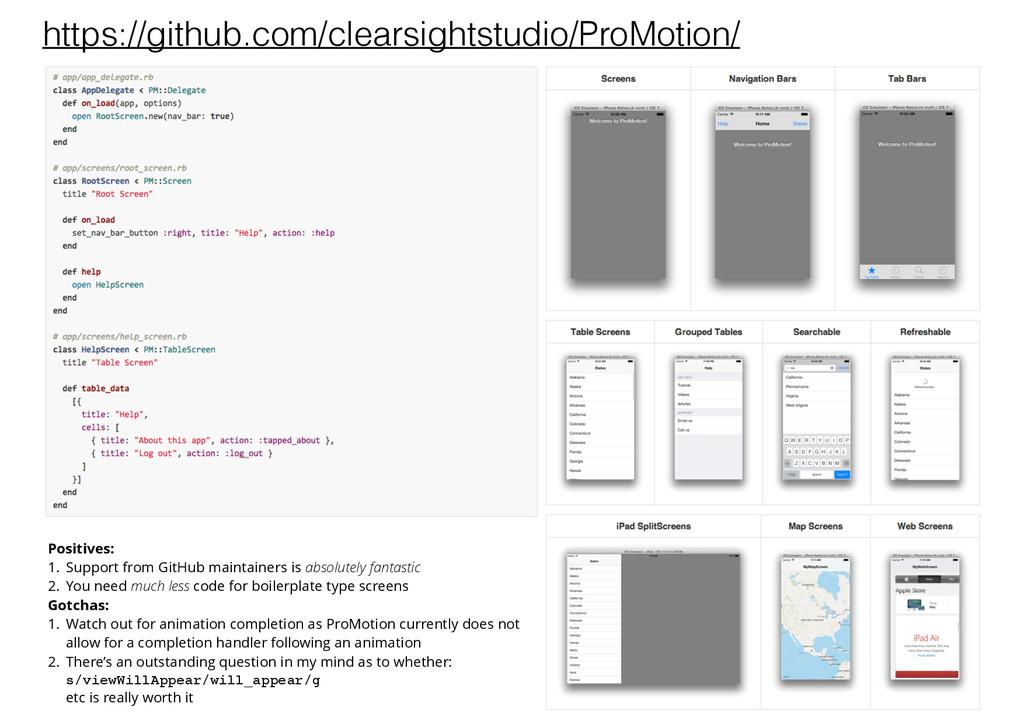 https://github.com/clearsightstudio/ProMotion/ ...