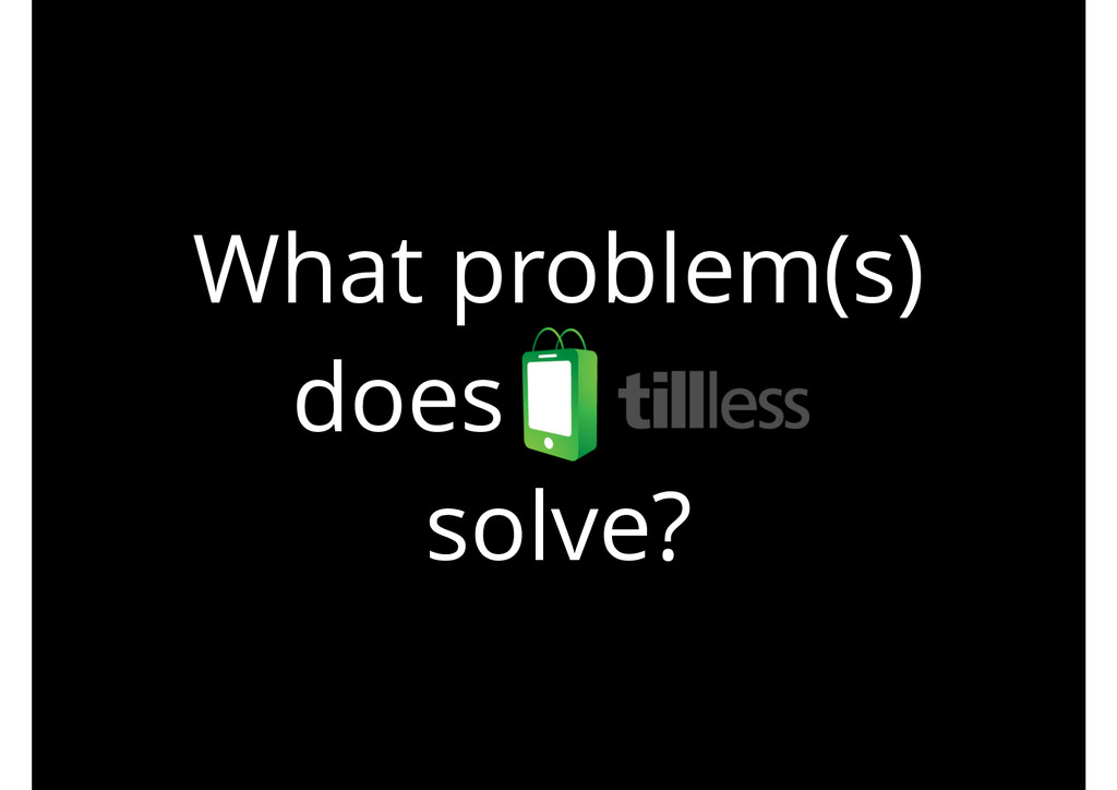What problem(s) does . solve?