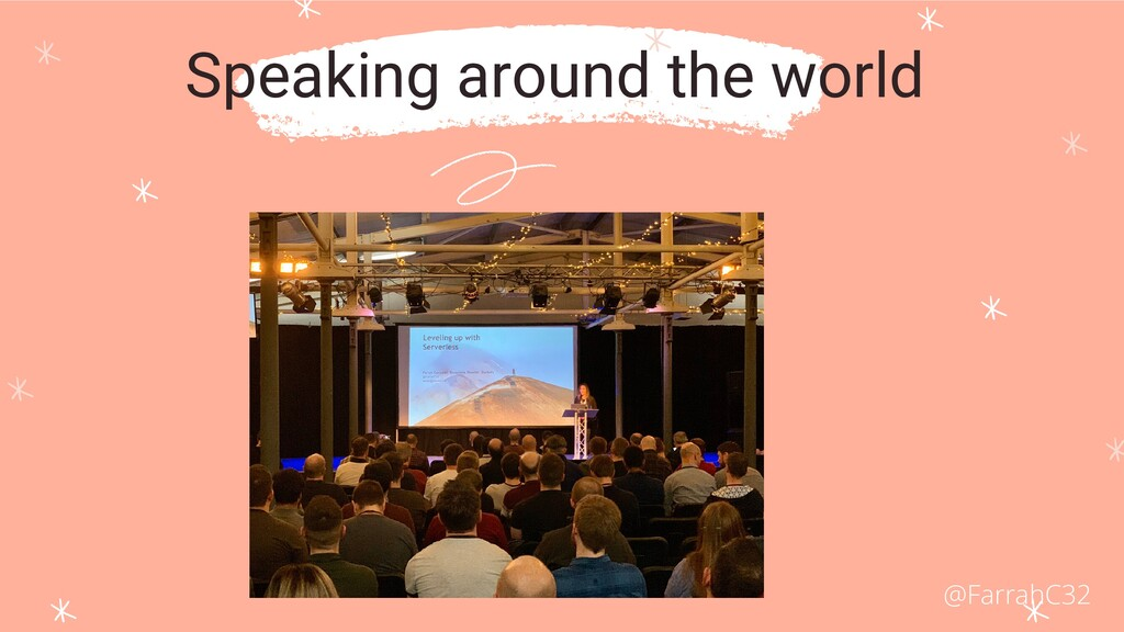 Speaking around the world @FarrahC32