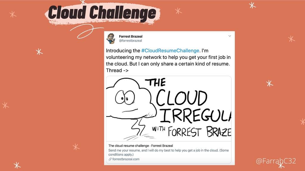 Cloud Challenge @FarrahC32
