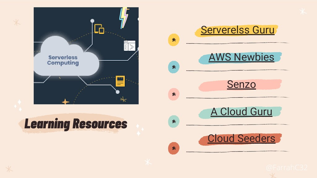 * * * * * Learning Resources AWS Newbies Senzo ...