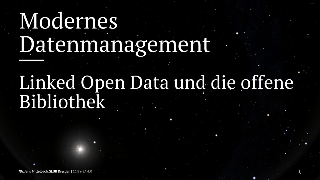 Modernes Datenmanagement Linked Open Data und d...