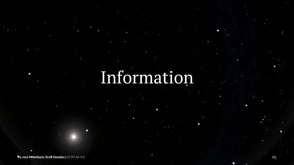 Information Dr. Jens Mittelbach, SLUB Dresden |...