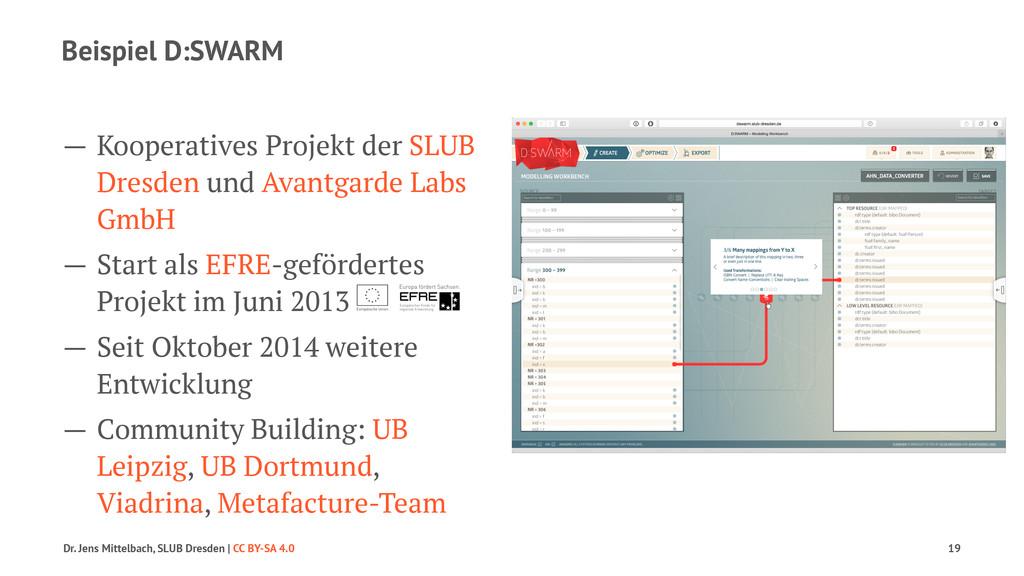 Beispiel D:SWARM — Kooperatives Projekt der SLU...