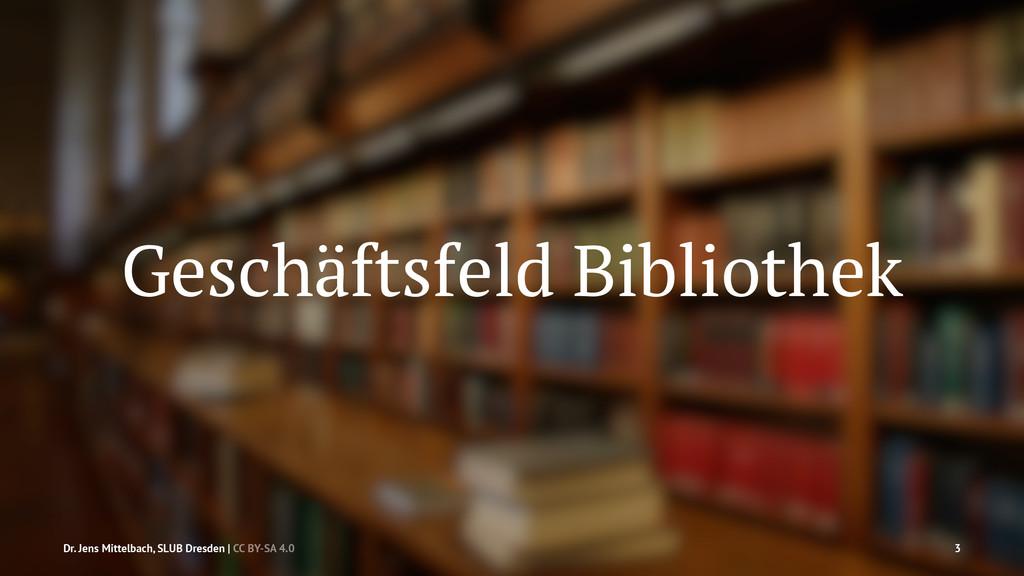 Geschäftsfeld Bibliothek Dr. Jens Mittelbach, S...