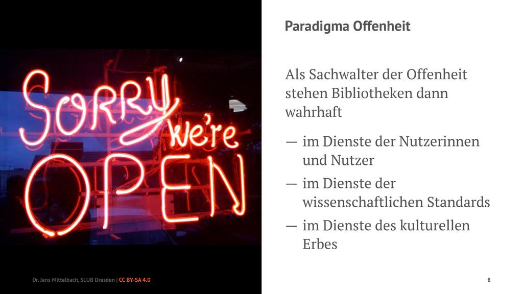Paradigma Offenheit Als Sachwalter der Offenhei...