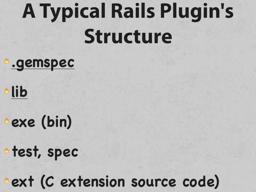 A Typical Rails Plugin's Structure  .gemspec  l...