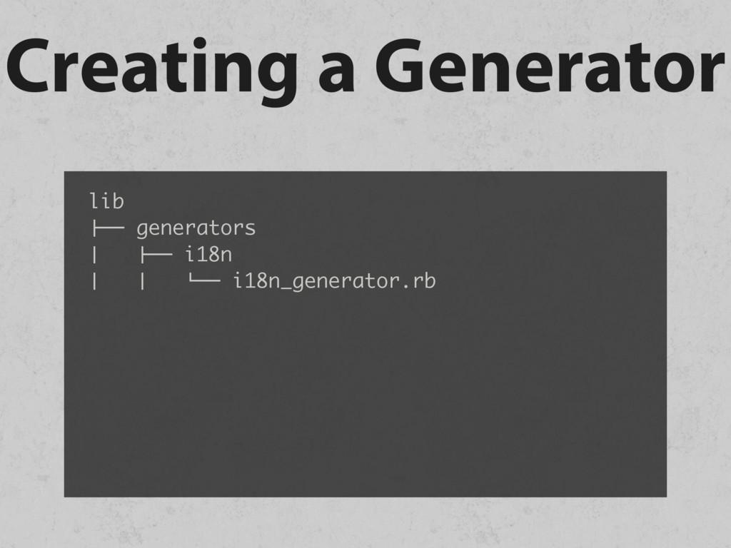 """Creating a Generator lib !"""""""" generators # !"""""""" i..."""