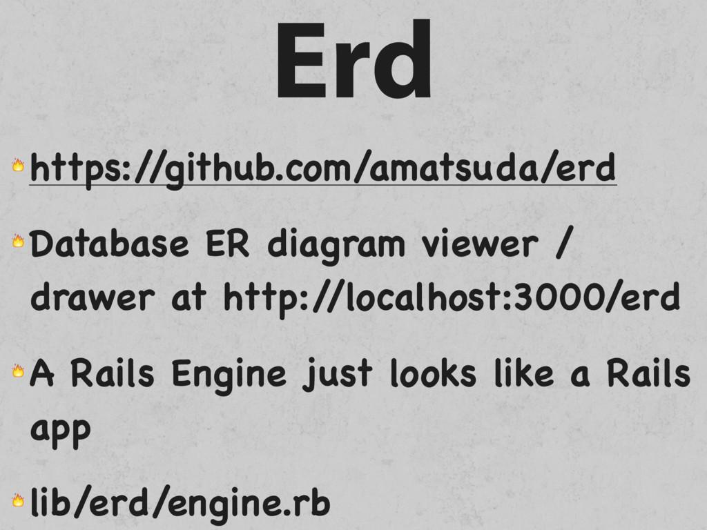 Erd  https:/ /github.com/amatsuda/erd  Database...