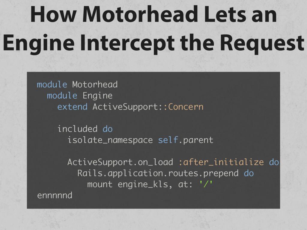 How Motorhead Lets an Engine Intercept the Requ...
